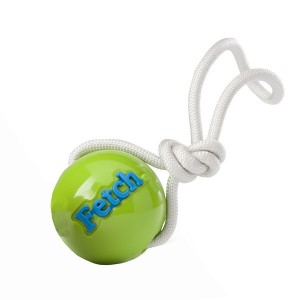 PLANET DOG Orbee-Tuff® Woof. Ball & Fetch - zielony ze sznurkiem